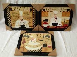 fat chef wall decor italian kitchen visualize decor large
