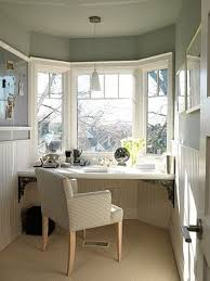 desk in front of window.  Front This Works Perfect For The Space I Am Using As Home Office So Glad Saw  This Before Did Something Else Once Again Sarah Richardson Making A Small  Intended Desk In Front Of Window S
