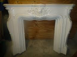 ornate plaster cast fire surround