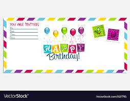 Happy Birthday Invitation Card Royalty Free Vector Image Unique Birthday Invitation Pictures