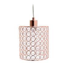 Rose Gold Lights Elegant Designs Elipse 1 Light Rose Gold Cylinder Pendant