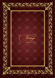 Theatrical Brochure Or Book Cover Template With Golden Vintage