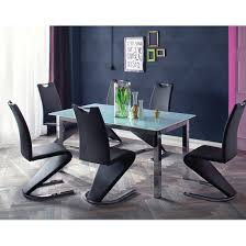 glass extending dining table and 6 chairs. bentini glass extending dining table in white with 8 chairs and 6
