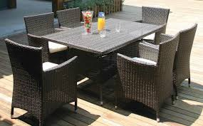 all weather wicker 7 piece outdoor dining set