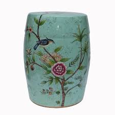 ceramic garden stool. Indoor Furniture Chinese Ceramic Garden Stool H18inches With Flower And Bird Design E