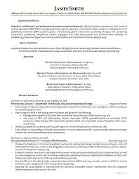Academic Resume Examples Cool Bioinformatics Resume Sample R And D Professional Sample Resume