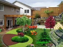 simple landscaping ideas. Landscape Model 12 Front Lawn Ideas Regarding Simple Pertaining To Easy Landscaping Patio V