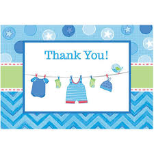Baby Boy Thank You Cards Shower With Love Baby Boy Postcard Thank You Cards 8 Count Thank