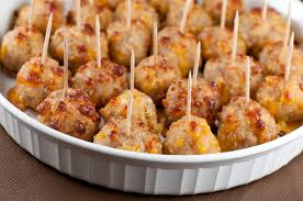 Sausage Cheese Balls are a quick and delicious snack or appetizer with  ground sausage and cheese