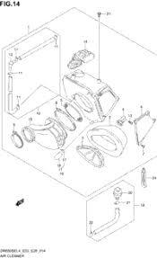 2014 suzuki dr650se oem parts babbitts suzuki partshouse air cleaner