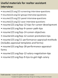 Top 8 Realtor Assistant Resume Samples