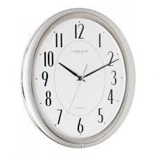 london clock company silver finish wall