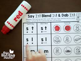 Handwriting worksheet maker make custom handwriting & phonics worksheets type student name, small sentence or paragraph and watch a beautiful dot trace or hollow letter. Blend Dab Beginning Blends Worksheets This Reading Mama