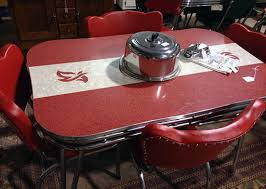 red retro chairs. Big Red Retro Dining Table And Chair Set Chairs