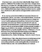 narrative essay on childhood memories narrative essay childhood memory