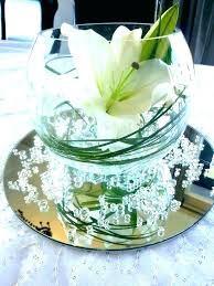 glass bowl vase with flowers shallow round vases bubble and fish by whole clear low bowls glass bowl vase with flowers