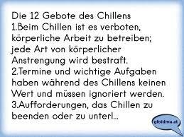 Die 12 Gebote Des Chillens1beim Chillen Ist Es Verboten