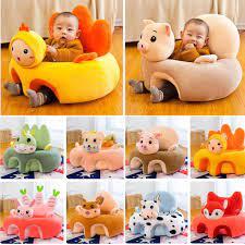 Ghế tập ngồi, ăn dặm hình thú nhồi bông cho trẻ em sơ sinh siêu cute nhiều  màu được chọn mẫu (có bông sẵn) - duth.luxury chính hãng 65,000đ