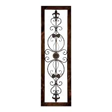 Woodland Imports 18-in W x 62-in H Framed Metal Wall Plaque 3D
