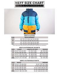 Zipper Size Chart Size Chart Neff Headwear