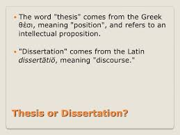 Meaning of the word thesis