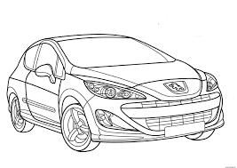 Coloriage Voiture Peugeot 308 Gt Dessin