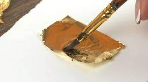 easy ways to apply gold leaf to paper