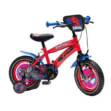 boys bike 12 inch spiderman superhero bicycle birthday present ride summer fun
