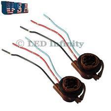 2002 2003 2004 2005 2006 2007 jeep liberty headlight wire harness 2x 3157 4157 bulb socket turn signal brake light harness wire plug connector