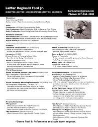 Resume Editing Online Motion Graphic Artist Resume Sample Resume Design Resume
