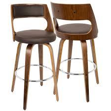 Cecina Mid-century Modern Wood Barstool