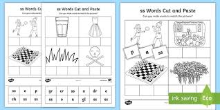 These free worksheets are printable and designed to accommodate any lesson plan for reading that includes. Ss Sound Cut And Stick Worksheet Teacher Made