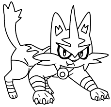 Classy Idea Alola Pokemon Coloring Pages Torracat Page By Kids