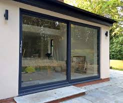 smart visoglide plus aluminium sliding patio doors installed ilkley
