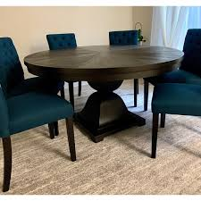 monaco scratch resistant 60 inch round wood dining table by inspire q artisan ships to canada overstock ca 23591074
