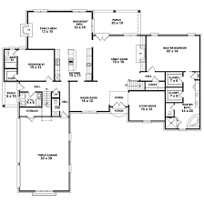 5 bedroom 1 story floor plans 1 story house plans with 4 bedrooms circuitdegeneration org