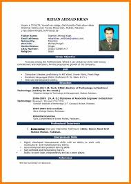 Simple Resume Format Simple Cv Format c100ualwork100org 41