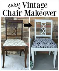 Easy Vintage Chair Makeover   Girl in the Garage®