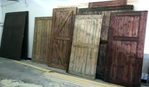 outside barn doors custom interior exterior sliding rustic home depot hardware diy one of the bathrooms