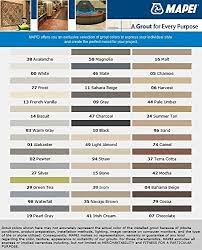 Mapei Color Chart Grout Stain Color Seal Mapei Colors Avalanche 16 Oz