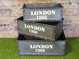 industrial furniture london. s3 industrial furniture metal storage boxes crates vintage london england 1968 e