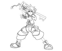Small Picture Kingdom Hearts 2 Coloring Pages Free Coloring Pages