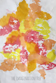 tissue paper bleeding art with leaves