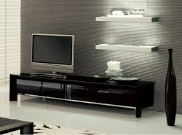 miami tv stand by tonin casa italy with black glass doors