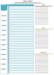 Daily Routine Chart For Adults Daily Schedule Template