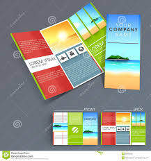 professional business three fold flyer template stock photo professional business three fold flyer template