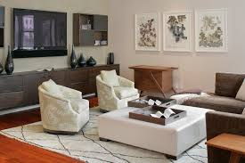 geometric club chairs with floating a console living room contemporary and table vases