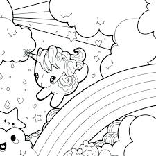 Rainbow Printable Coloring Pages Unicorn Rainbow Coloring Page