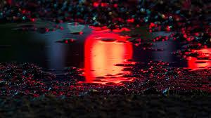 bf60-rain-red-bokeh-water-asphalt-art ...