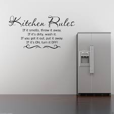 Wall Art For Kitchen Kitchen Rules Wall Art Sticker Kitchen Quote Decal Mural Stencil